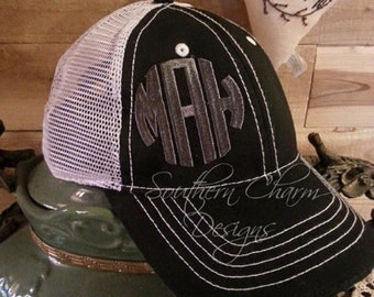 Monogrammed Hat- Super Cute Trucker style