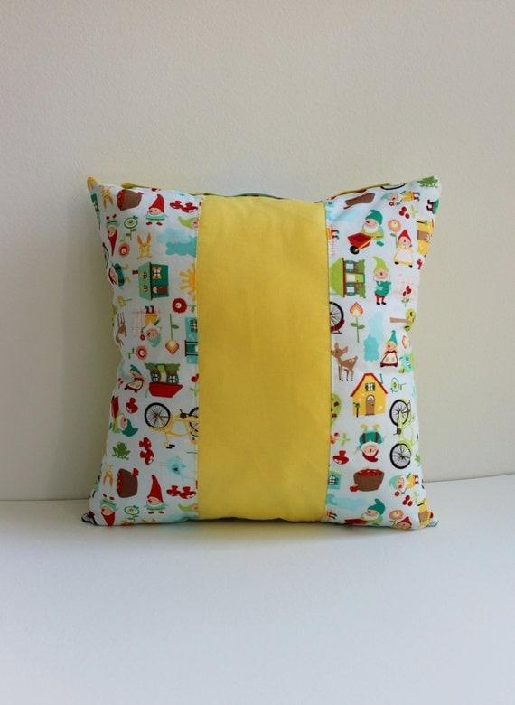 Decorative Pillows For Baby Room : Dwarfs nursery pillowcase baby boy cushion pillow. Boys room