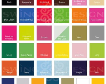 Siser EasyWeed 15 in x 1 Ft Sheet Heat Transfer Material  -47 Colors Available