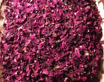50 grams of Dried Purple Rose Petals Wedding Confetti/Home Fragrance - Free P&P in UK