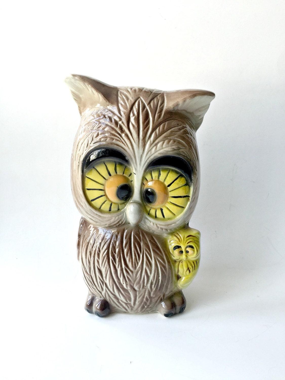 Large Winsome Ceramic Owl Figure Child 39 S Bedroom Decor