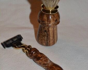 Beautiful Handmade 2 Piece Shaving Set Razor/Brush