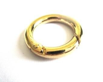 Rings gold metal clasp Ø 24 mm ROO-16G-013    Ø 0.94 inches