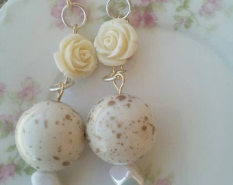 Golden roses earrings *STORE CLOSING *