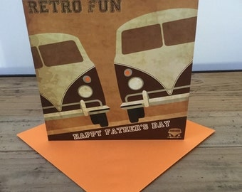 Happy Father's Day Campervan Card