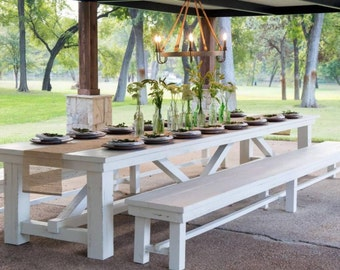 Trestle Farmhouse table & 1 matching bench