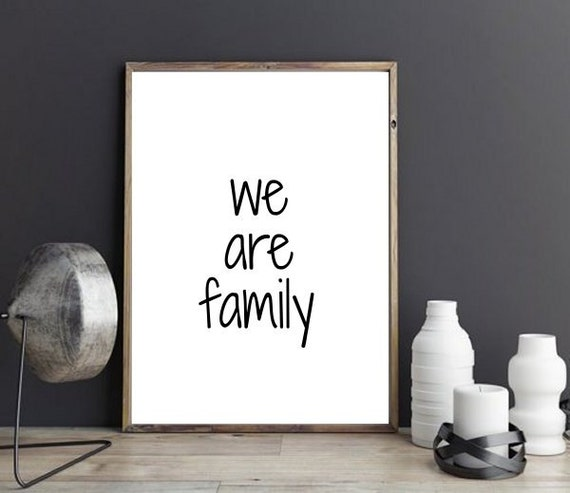Printable Family Wall Decor : Printable wall art we are family decor by wordsmithprints
