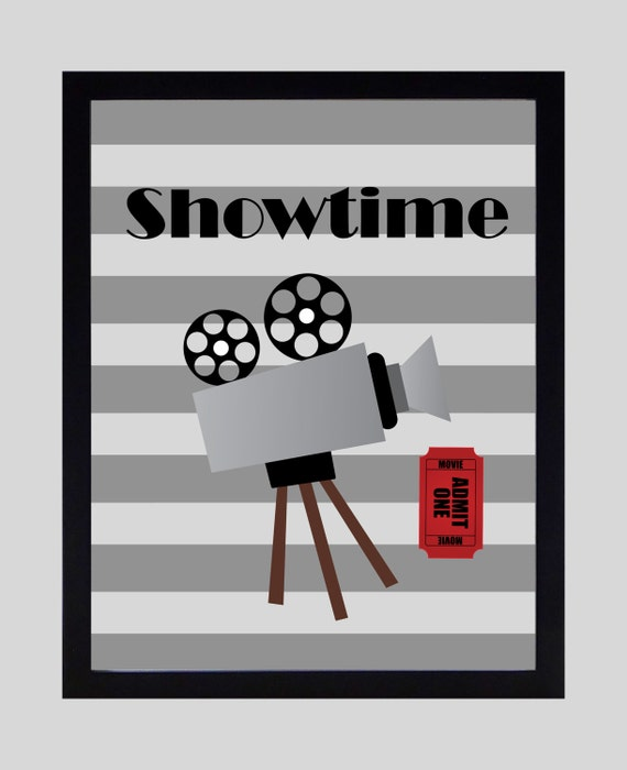 Items Similar To Showtime Print Home Theater Decor Movie