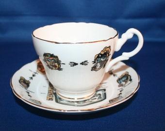 Vintage Regency Alaska Souvenir Teacup and Saucer Made in England tea cup