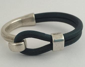 Leather Bar Bracelet