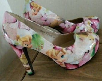 Tinkerbell floral customised shoes