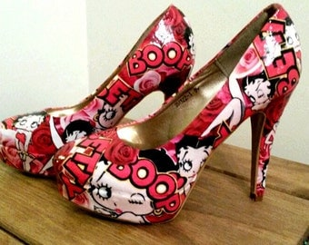 Betty boop customised shoes