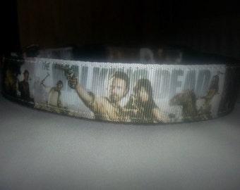 Walking Dead Dog collar Handmade adjustable nylon