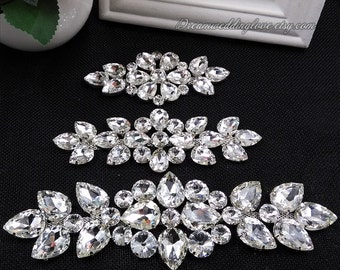 Rhinestone applique, Crystal applique,bridal belt, Children sash appliqu, ,Crystal Applique,kids belt,Headband Jewelry, wedding DIY