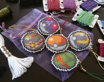 Pokeball Cross Stitch