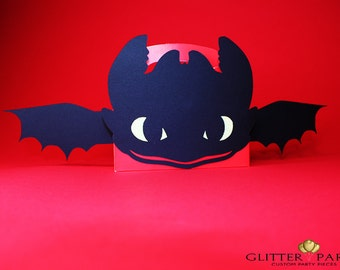 12  RED How To Train Your Dragon Party Decorations - Custom Toothless Party Favor Box!