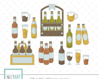 Wine clipart , Juice clipart, vector graphics, Drinks Pack clipart, digital clip art, digital images -  CL 111