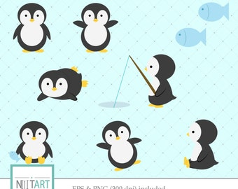 Penguin clipart , Sweet clipart, vector graphics, animal clipart,  digital images -  CL 047