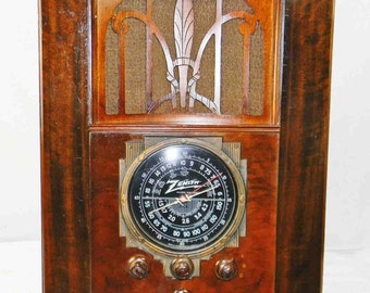 Zenith 6-S-27 (1936) Tombstone Radio with AM/SW and mini-jack installed---Bluetooth available
