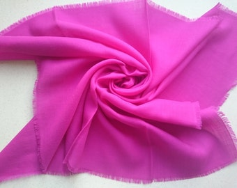 CERISE PINK Kreier of Switzerland 100% Wool Square Scarf - Large Amount of Stunning Scarves From Vintage 1970/1980 Stock