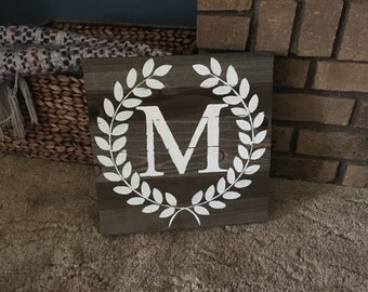 Monogrammed Wooden Sign