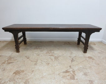 Antique Primitive Asian Chinoiserie alter Hall Foyer Coffee Table stand