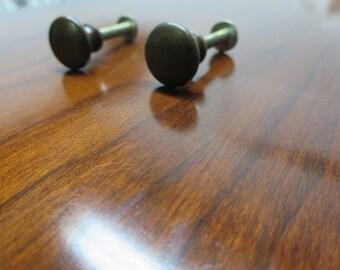 2 Henkel Harris Black Cherry Virginia Galleries Sideboard handle pulls hardware