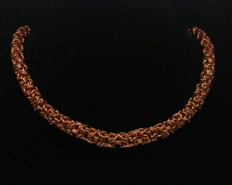 7mm Turkish Roundmaille chain - Copper