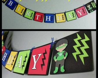 Superhero Banner, Superhero Garland, First Birthday Banner
