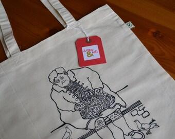 Joyce canvas tote bag