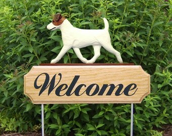 Jack Russell Terrier Welcome Garden Stake