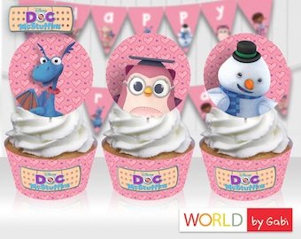 Doc McStuffins Topper | McStuffins Wrappers | McStuffins Cupcakes | McStuffins Party | McStuffins Birthday | McStuffins Party Ideas|