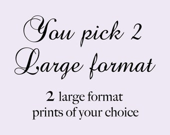 Two combined prints, You Pick 2, Gold Foil prints Home Decor