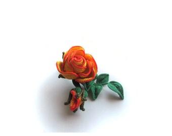Brooch - Rose yellow