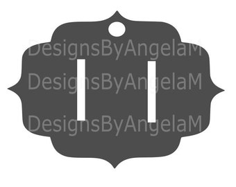 Hair Bow Holder Hair Barrette SVG Digital cutting file  Instant Download - Use on your cutting machine Vector File