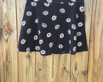 H&M Evil Eye Flared Skirt sz.12