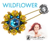 Wildflower brooch - instant dowload for the pdf instructions for a top-notch beadwork project!