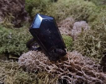 Electroformed Super Seven Coffin Ring
