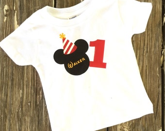 Mickey Inspired 1st Birthday Shirt