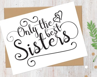 Will You Be My Matron of Honor Card | Only the Best Sisters Get Promoted to Matron of Honor | 100% Recycled Card