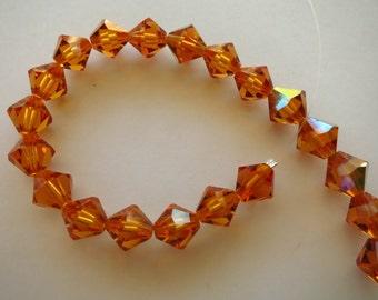 8mm Topaz Swarovksi Crystals - 20 crystals