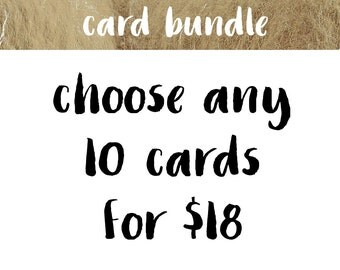 Pick 10 Cards | Greeting Card Bundle