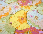 Vintage Cotton Abstract Poppy Floral Napkins - Set of 4