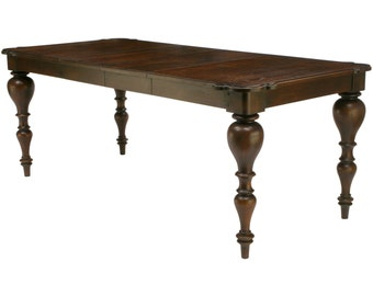 565 Rococo look solid oak extension dining table