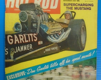 "HOT ROD MAGAZINE November 1964...""Big Daddy"" Don Garlits...1965 Pontiac ""Goat"""