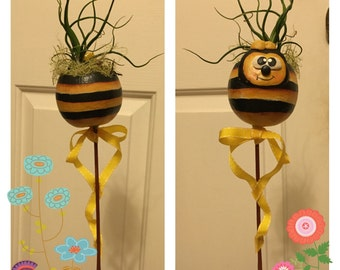 Bumble bee air plant pick