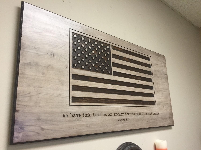 American flag wall decor wood wall art carved us flag American flag wood wall art