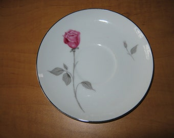 "Vintage (8) Contour Treasure Pink Roses China by Japan ""Coffee Saucer"""