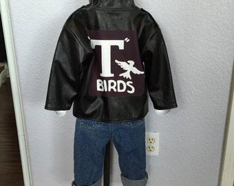vintage greaser jacket 50's biker Toddler