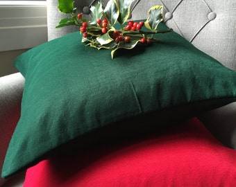 Red Silk Cushion Green silk cushion